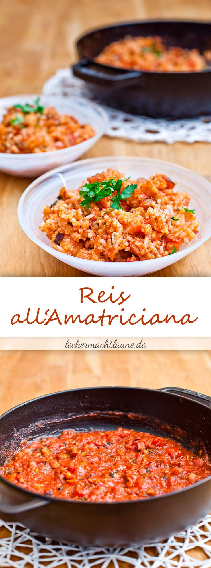 Reis all'Amatriciana {pfannengericht}