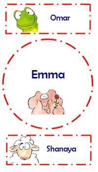 Leuke naamkaartjes! (Gratis download op pagina: thema's-begin schooljaar). Ook…