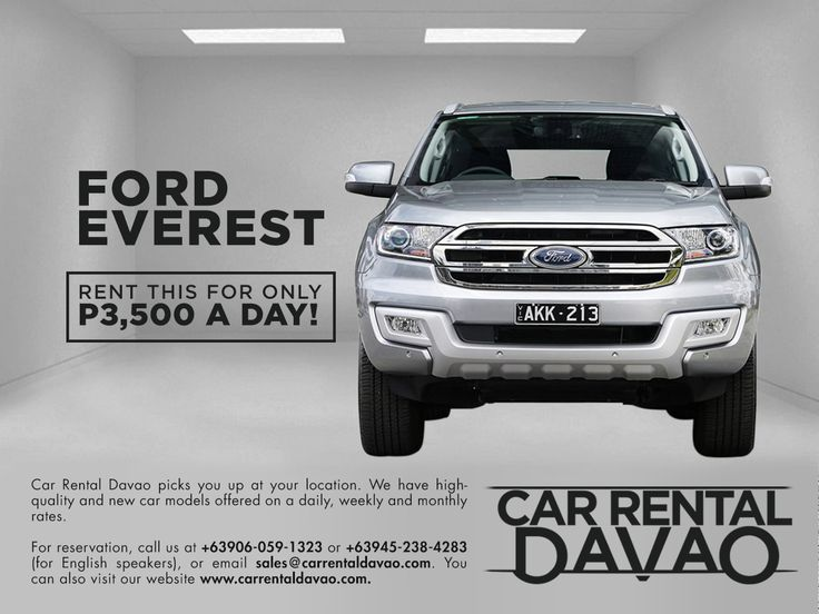 Ford Everest for Rent Philippines in 2020 Car, Car