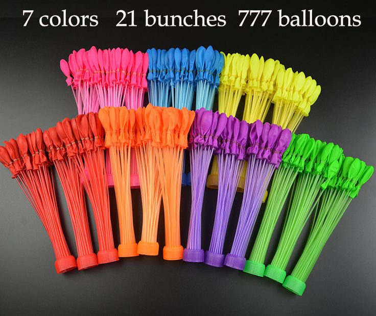 Mutil color 21 Bunches  777 Water Balloons For huge water balloon fights fast #Unbranded