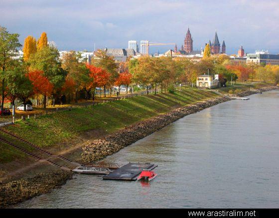 Mainz, Germany (on the Rhine River)..beautiful scenery along the Rhine.