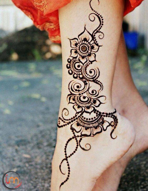 Картинки татуировки узоры на ноге