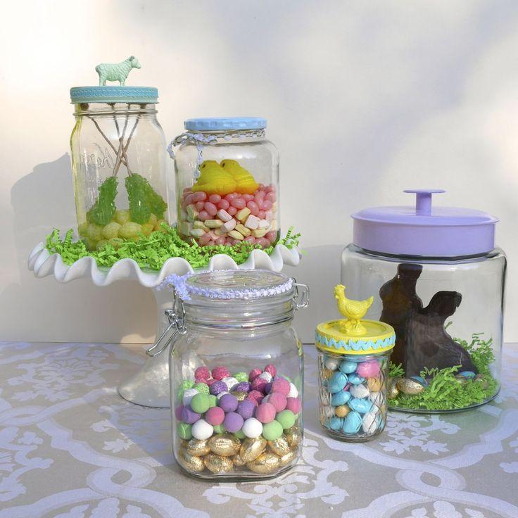 Enfeites comestíveis: Como fazer um terrário de doces de Páscoa