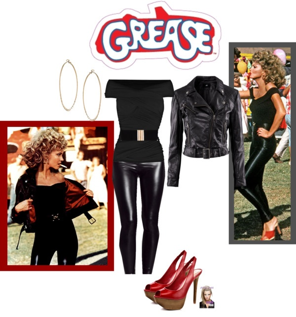 """DIY Grease Halloween Costume"" by jessicaleila ❤ liked on Polyvore"
