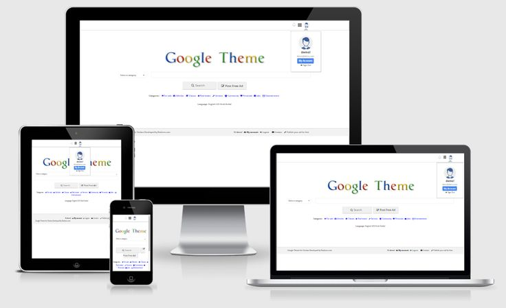 Rackons Google Theme For Osclass :   	Rackons Google Theme is Unique, flexible, professional, responsive osclass theme with clean, modern and well structured design as well as Advanced SEO and lightweight Page (520 ms) also have powerful theme control panel.  	Home Page Feature : Responsive, Clea