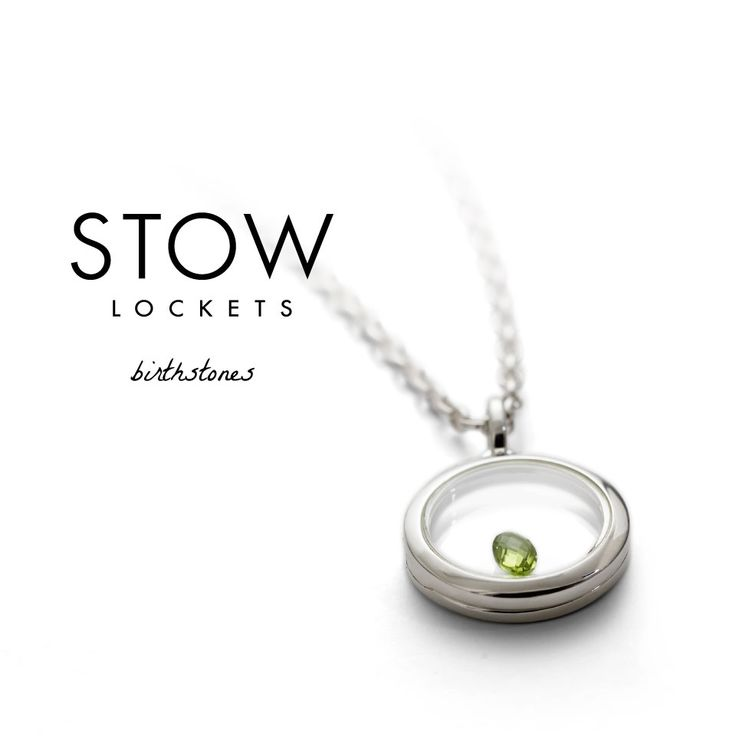 Stow Lockets <3 Birthstones, Peridot, Classic, Elegant, Green. Check out the collection x