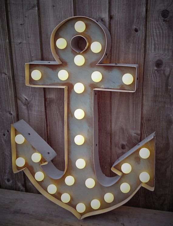 Marquee Anchor Light (Relic // Patina // Fun Fair Sign & Light // Vintage Themed // Wedding // Distressed // Home Lighting)