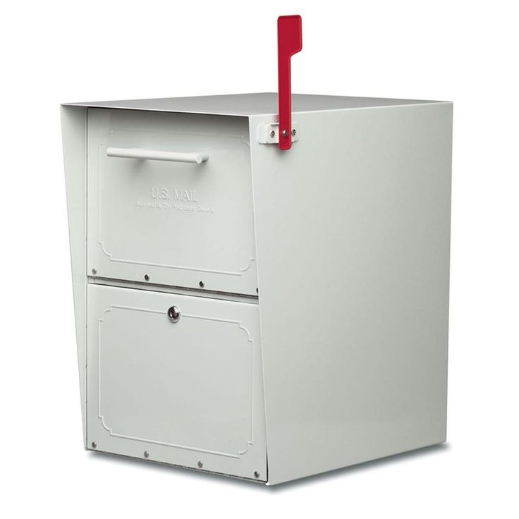 Oasis Post-Mount or Column-Mount Locking Mailbox in