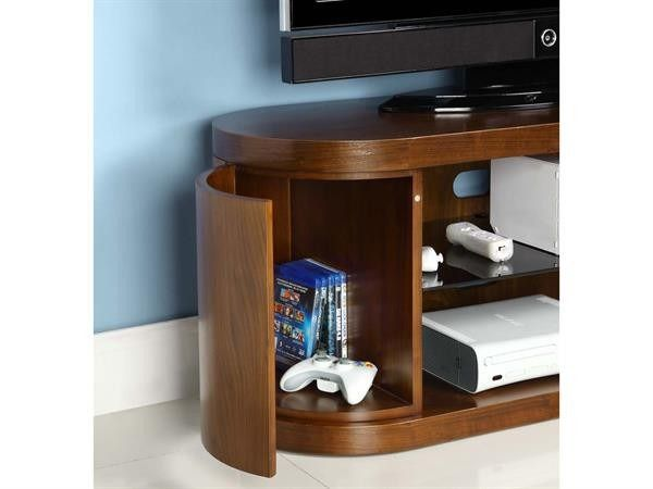 Jual Furnishings JF207 Walnut TV Stand upto 50 - rafted Using Natural Walnut Veneer, the JF207 Cabinet would make a beautiful addition to any home. Designed with appealing Curves and featuring concealed storage compartments to hide all your AV accessories, DVDs and remote controls.