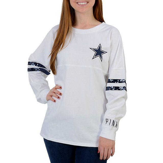 Dallas Cowboys PINK Varsity Crew