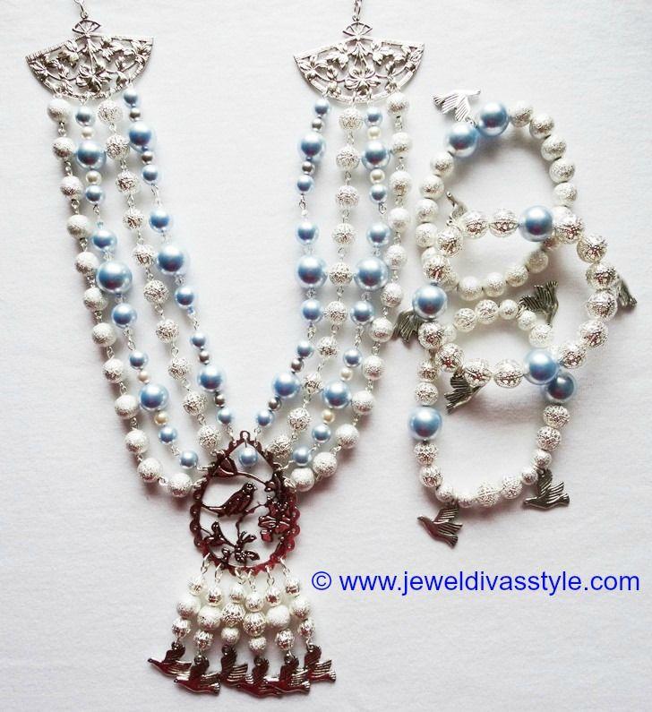 JDS - JEWEL DIVAS ROYAL BLUEBIRD SWAROVSKI JEWELLERY SET - http://jeweldivasstyle.com/my-personal-collection-jewellery-ive-made-or-remade-over-the-last-few-months/