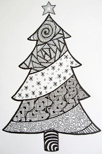 zendoodle  christmas | Christmas Tree Doodle (© Z.Ford)