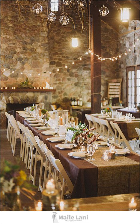 Rustic wedding decor. i like this rustic look