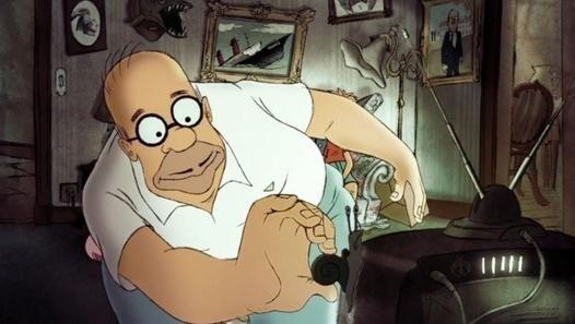 """Sylvain Chomet, est un dessinateur français qui a imaginé dans le dernier gag du canapé (couch gag) comment serait la famille Simpson si elle était française. Ce générique sera diffusé le 9 mars 2014 dans l'épisode """"Diggs"""" (E12S25) aux États-Unis. Le dessinateur Sylvain Chomet a réuni beaucoup de clichés sur les Français comme par exemple Homer qui mange des escargots, Marge qui parle en français, Bart qui gave une oie et Lisa qui joue de l'accordéon. On notera également le portrait officiel…"""