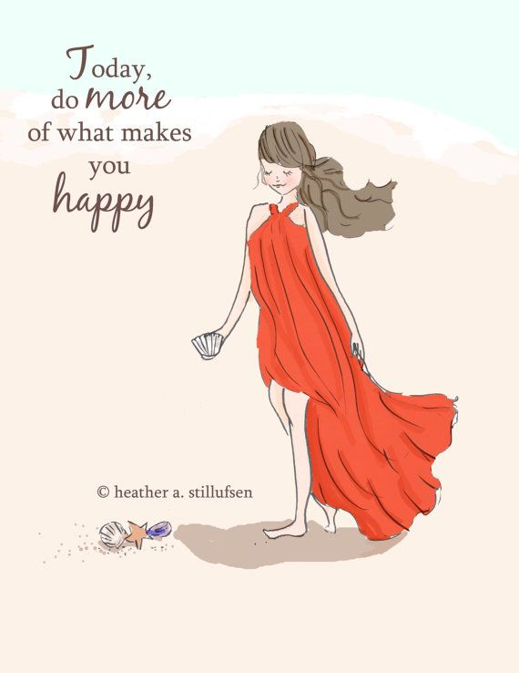 Today Do More of What Make you Happy Beach by RoseHillDesignStudio