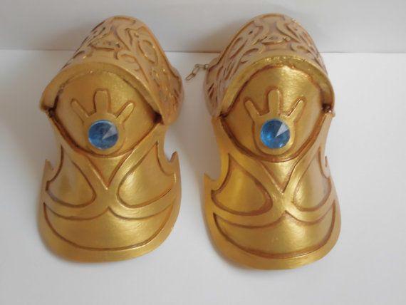 Princess Zelda pauldrons armor by NarayuCrea on Etsy, $165.00