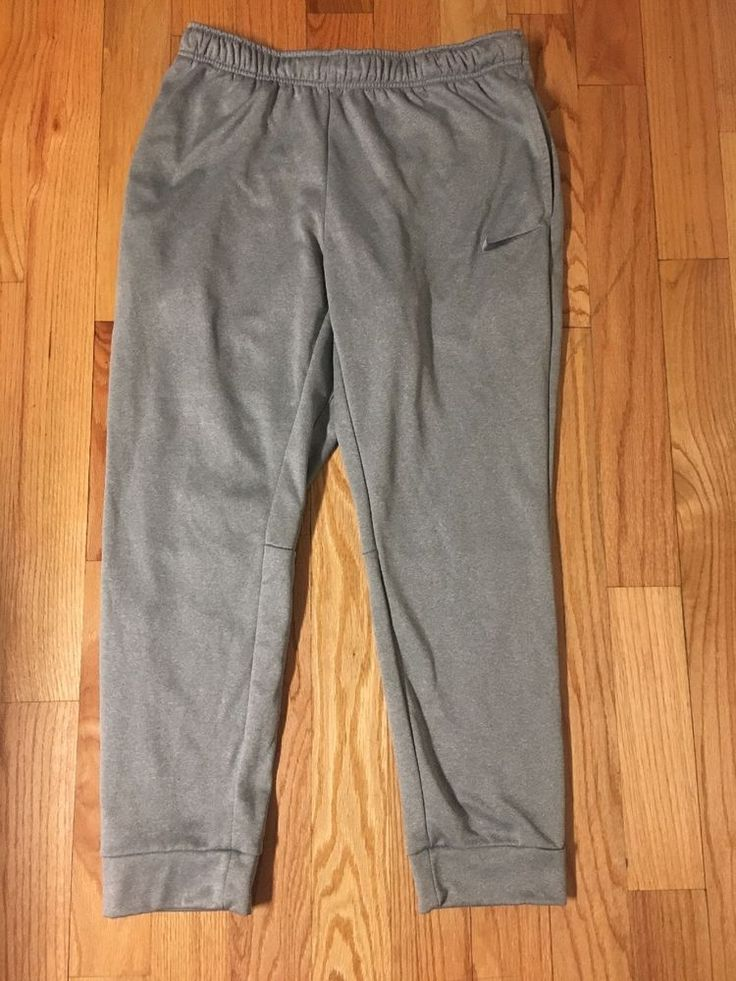 Nike therma fit light gray athletic pants 716373 mens xl