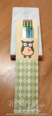 Seasons of Stamping: A Little Stampin'Up! Gift to go Back-to-School!
