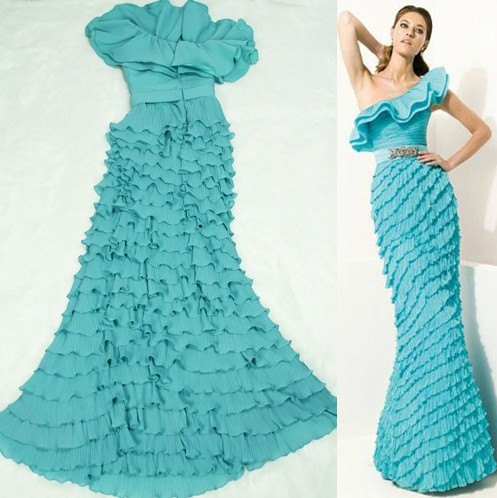 Custom halter chiffon wedding dress s via etsy