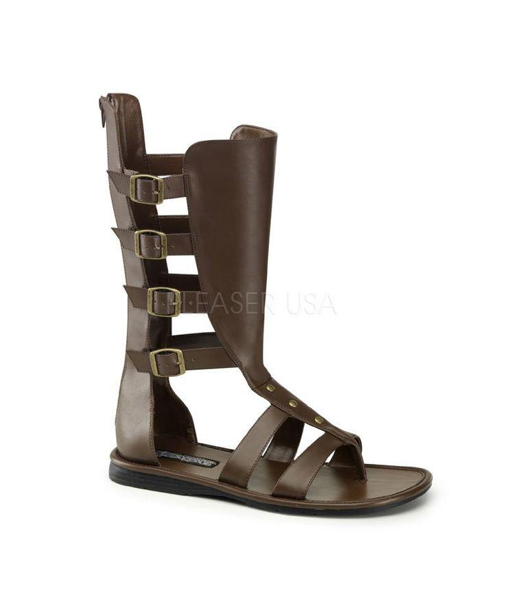 Sandales romaines brunes-As0136