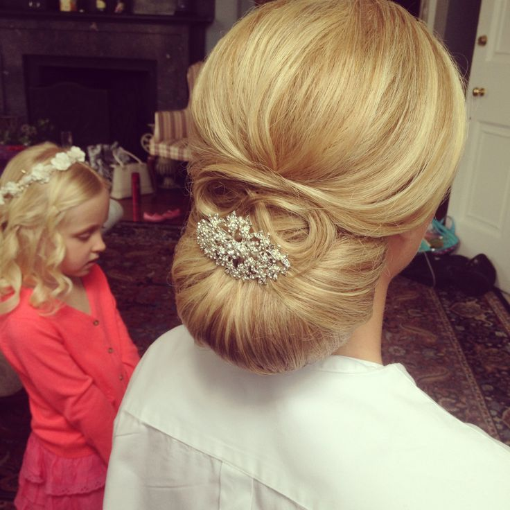 Classic Chignon Wedding Hairstyles: Smooth Chignon, Classic Wedding Hair, Wedding Hairstyle