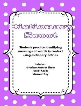 17 Best images about Dictionary & Reference Skills on Pinterest ...