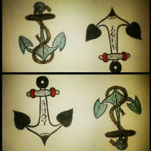 Anchors. Tattoo idea. My design.