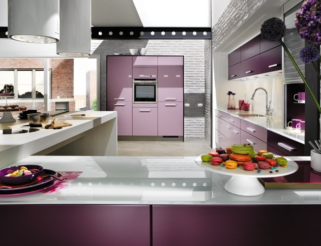 Lilac kitchen work space  Home Body  Pinterest