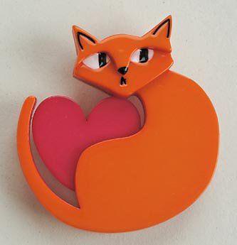 Erstwilder Linda Love Cat Brooch
