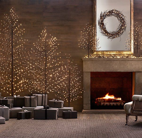 Bark Starlit Trees Holiday Decor Pinterest Trees Hardware And Restoration Hardware