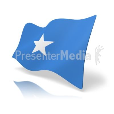 This clip art image shows the Somalia flag at a perspective angle. #powerpoint #clipart #illustrations