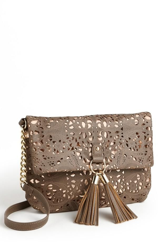 Love this perforated crossbody bag!
