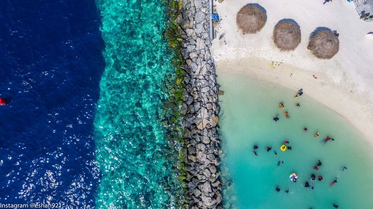 The new artificial beach in Male' city from above. by Ishan @seefromthesky Maldives - Photo 140797389 / 500px