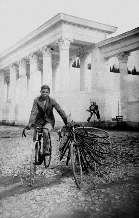 1929 ~ In front of the Panathenaic Stadium ~ Athens