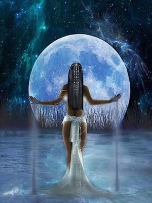 Blue Moon Goddess-- goddess of the moon-- Cancerian Women