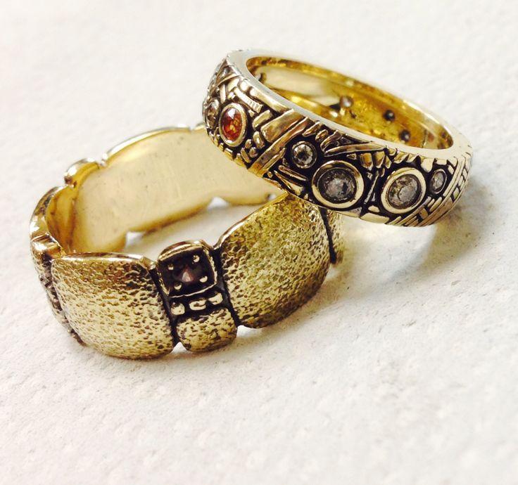 Золото 24 ct, коньячные бриллианты, красные сапфиры