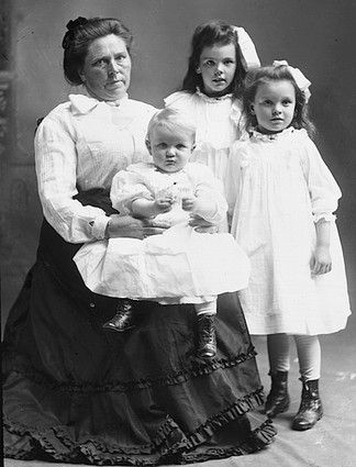 """Belle Sorenson Gunness (1859-1908?) was a serial killer who had moved from Norway to Chicago in 1881.  She killed most of her suitors and boyfriends, and her two daughters, Myrtle and Lucy. She may also have killed both of her husbands and all of her children, on different occasions. Her apparent motives involved collecting life insurance, cash and other valuables. Reports estimate that she killed between 25 and 40 people over several decades.  She became known as """"Hell's Belle""""."""