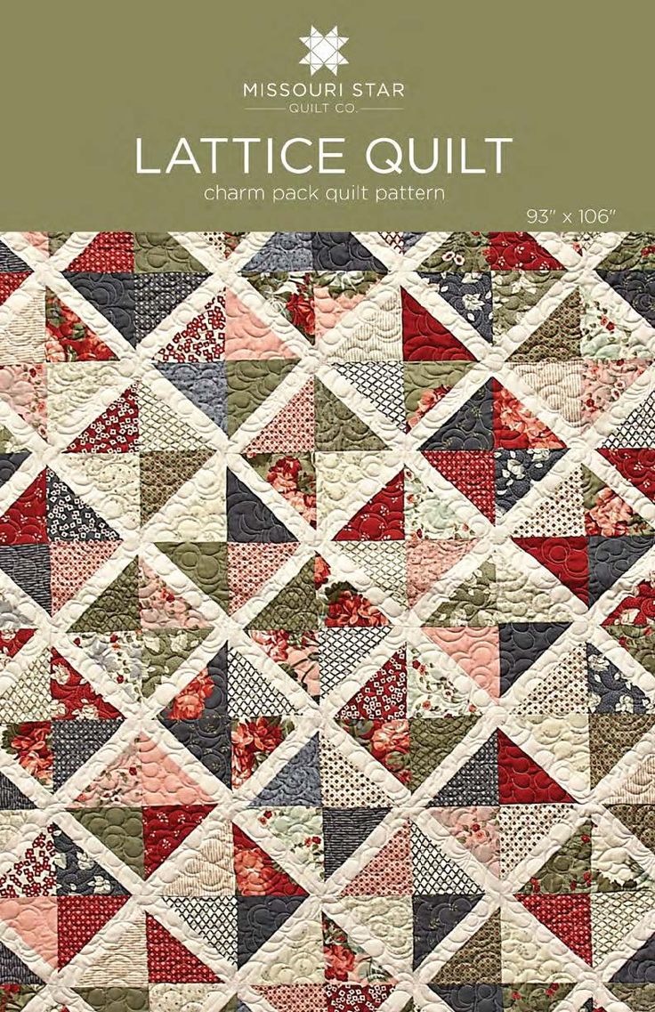 Digital Download Lattice Quilt Pattern From Missouri