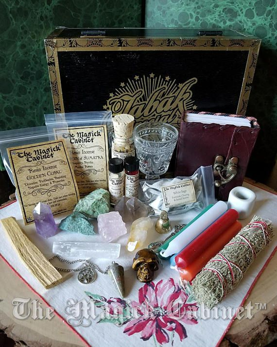 Witches Altar Kit Wicca Altar Kit Male Witch Box Traveling