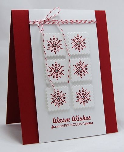 Maureen Merritt featuring Folk Art Flurries stamp set and Clear Cut Stackers: Pinking Squares die.