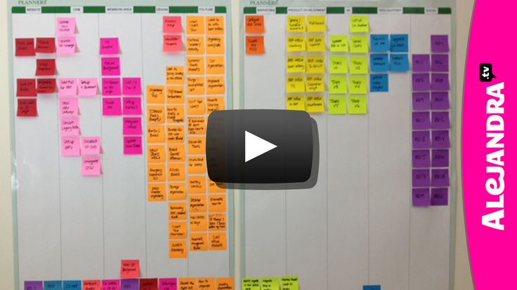 Love this for multi project planning! [VIDEO]: Office Organization: Planning Projects