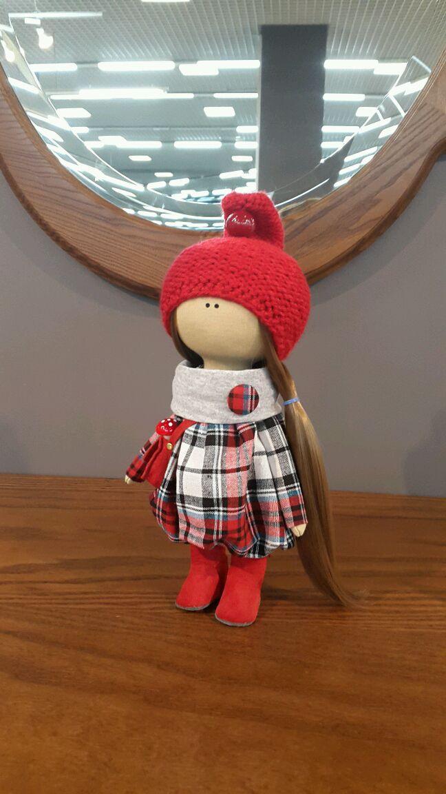 Купить Интерьерная кукла ручной работы - фуксия, розовый, мятный цвет, кукла ручной работы
