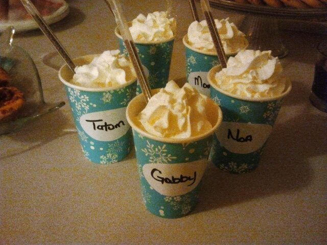 New Year's Eve Childrens and Family Fun! Make Hot chocolate, and add various coffee creamery flavors plus add  flavored straws (found in the aisle beside Nestle quick) and whipped cream! I loved it and the kids did too! Adults add Baileys to your Hot Chocolate with a coffee creamer of your choice!