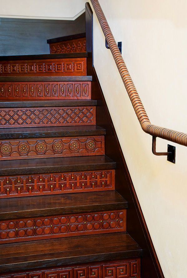 53 best stair riser ideas images on pinterest ladders - Interior stair treads and risers ...