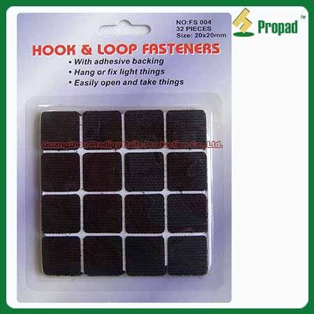 #Hook and Loop Tape FS004 Hook and Loop Velcro Tape can use indoor and outdoor to fix or fasten thing. Such as use on tools, photo frame, rain coat, clothes, handbag, window curtains, outdoor tent, mosquito net, small appliance accessory, wires, books, suitcase, shoes, toy, ect. Different colors, sizes and materials are available. Small/ Middle /Big hook for choosing.