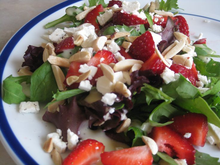 In the spirit of Canada Day we enjoyed a festive strawberry and feta salad along side our grilled chicken. I was inspired a few years ago by the Williams Coffee Pub version and re-created the salad…