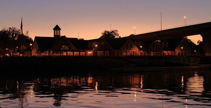Riverwalk Restaurant, Yorktown, VA.  On the river- superlative dinner menu- try the shrimp & grits!