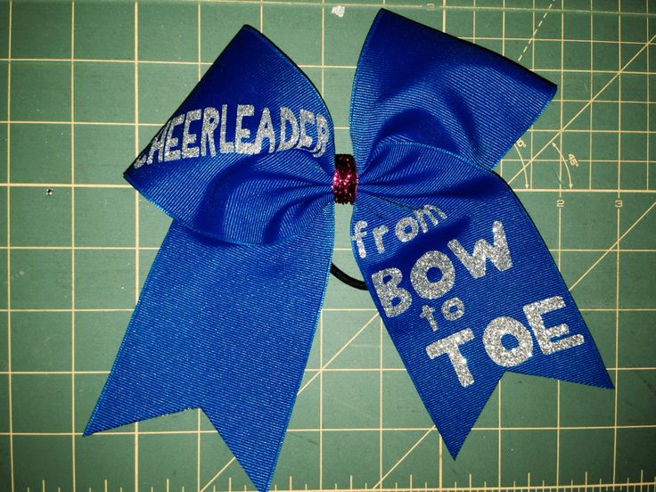 Cheerleader from bow to toe email sales@justcheerbows.com