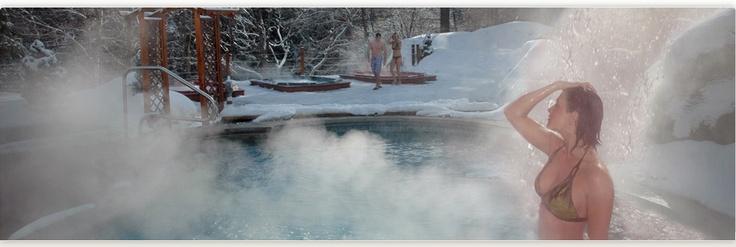 Attrait dans les Cantons de l'est : Spa des chutes de bolton - Un des plus beau spa naturel au Québec