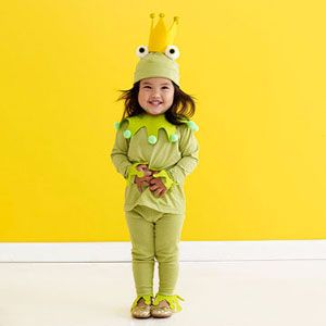 finn wants to be a frog-- need cheap cotton green clothes--like this color